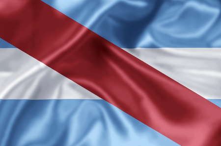 Entre Rios waving and closeup flag illustration. Perfect for background or texture purposes.