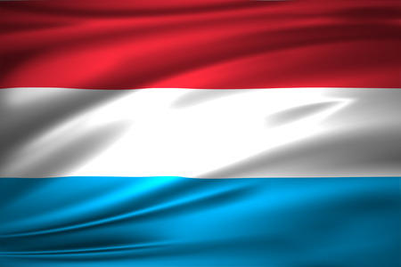 Luxembourg 3D waving flag illustration. Texture can be used as background.