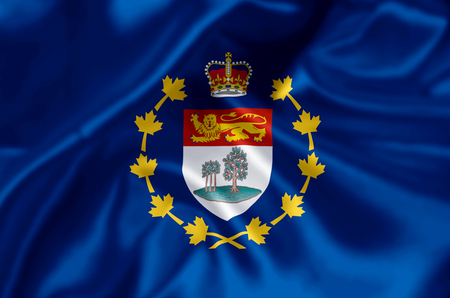 Lieutenant-Governor Of Prince Edward Island waving and closeup flag illustration. Perfect for background or texture purposes.