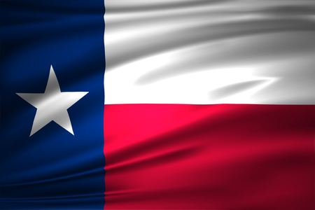 Texas 3D waving flag illustration. Texture can be used as background. 版權商用圖片