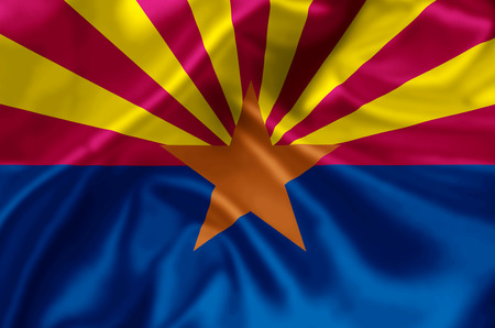 705175d55f7 Arizona waving and closeup flag illustration. Perfect for background or  texture purposes.