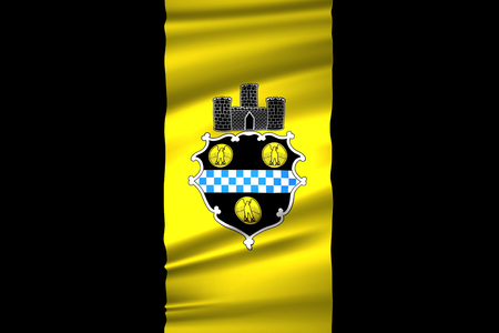Pittsburgh Pennsylvania 3D waving flag illustration. Texture can be used as background.