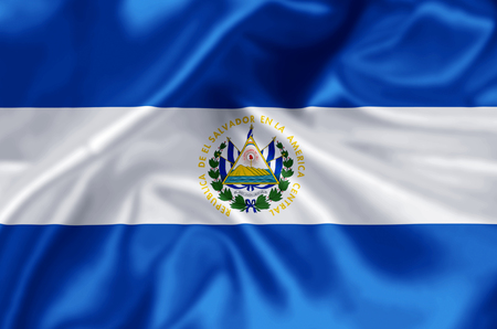 El salvador waving and closeup flag illustration. Perfect for background or texture purposes.