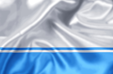 Altai Republic waving and closeup flag illustration. Perfect for background or texture purposes.