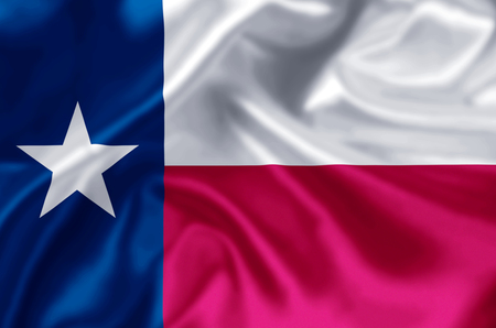Texas waving and closeup flag illustration. Perfect for background or texture purposes.