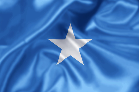 Somalia waving and closeup flag illustration. Perfect for background or texture purposes.