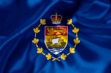 Lieutenant-Governor Of New Brunswick waving and closeup flag illustration. Perfect for background or texture purposes.