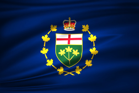 Lieutenant-Governor Of Ontario 3D waving flag illustration. Texture can be used as background. Stock fotó