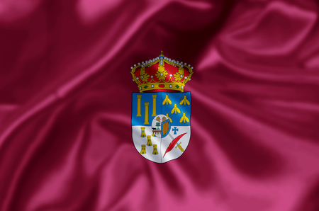 Salamanca waving and closeup flag illustration. Perfect for background or texture purposes.