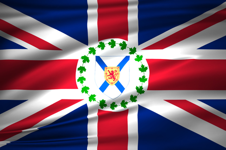 Lieutenant-Governor Of Nova Scotia 3D waving flag illustration. Texture can be used as background. Stock fotó