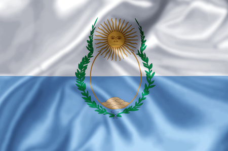 Mendoza waving and closeup flag illustration. Perfect for background or texture purposes.