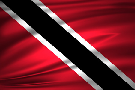 Trinidad and tobago 3D waving flag illustration. Texture can be used as background. Stock Photo