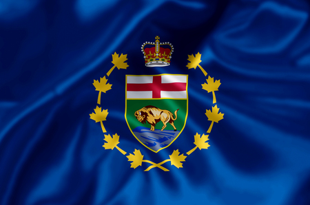Lieutenant-Governor Of Manitoba waving and closeup flag illustration. Perfect for background or texture purposes.
