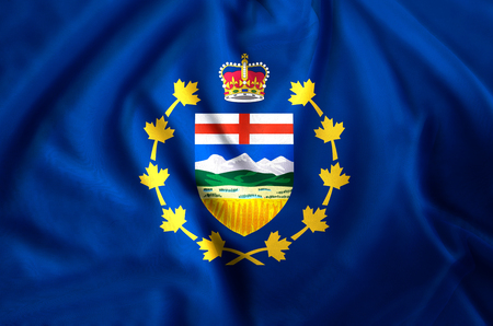 Lieutenant-Governor Of Alberta modern and realistic closeup flag illustration. Perfect for background or texture purposes.