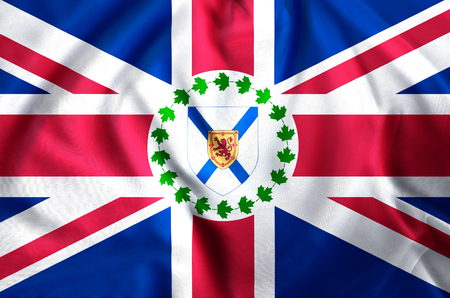 Lieutenant-Governor Of Nova Scotia modern and realistic closeup flag illustration. Perfect for background or texture purposes.