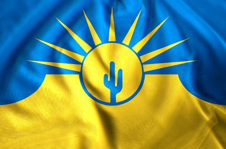 Mesa Arizona modern and realistic closeup flag illustration. Perfect for background or texture purposes.