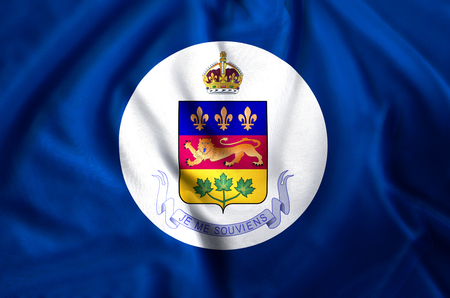 Lieutenant-Governor Of Quebec modern and realistic closeup flag illustration. Perfect for background or texture purposes.