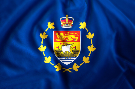 Lieutenant-Governor Of New Brunswick modern and realistic closeup flag illustration. Perfect for background or texture purposes.