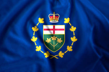 Lieutenant-Governor Of Ontario modern and realistic closeup flag illustration. Perfect for background or texture purposes. Stock fotó