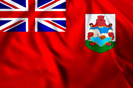 Bermuda modern and realistic closeup flag illustration. Perfect for background or texture purposes.