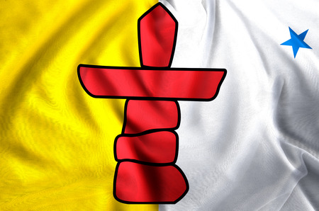 Nunavut modern and realistic closeup flag illustration. Perfect for background or texture purposes.