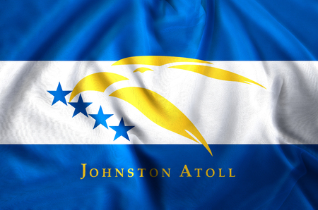 Johnston Atoll modern and realistic closeup flag illustration. Perfect for background or texture purposes.