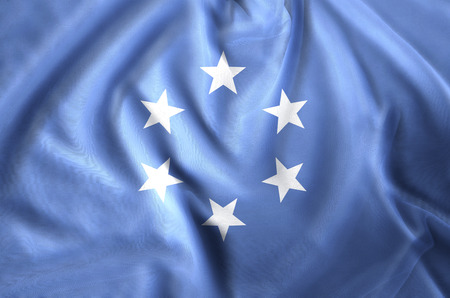 Trust Territory Of The Pacific Islands modern and realistic closeup flag illustration. Perfect for background or texture purposes.