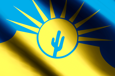 Mesa Arizona stylish waving and closeup flag illustration. Perfect for background or texture purposes.