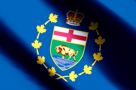 Lieutenant-Governor Of Manitoba stylish waving and closeup flag illustration. Perfect for background or texture purposes.