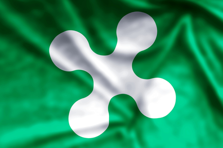 Lombardy stylish waving and closeup flag illustration. Perfect for background or texture purposes. Фото со стока