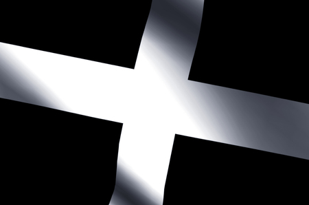 Cornwall stylish waving and closeup flag illustration. Perfect for background or texture purposes.