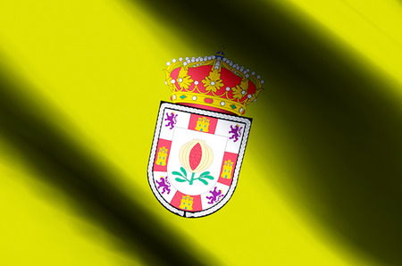 Granada stylish waving and closeup flag illustration. Perfect for background or texture purposes.