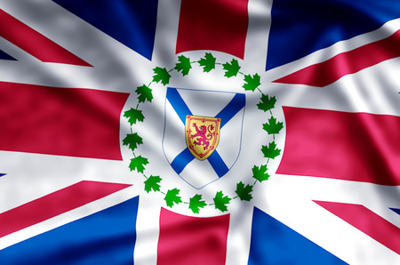 Lieutenant-Governor Of Nova Scotia stylish waving and closeup flag illustration. Perfect for background or texture purposes. Stock Photo