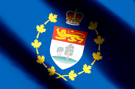 Lieutenant-Governor Of Prince Edward Island stylish waving and closeup flag illustration. Perfect for background or texture purposes. Stock fotó
