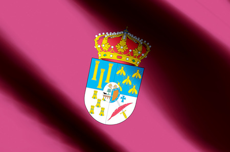 Salamanca stylish waving and closeup flag illustration. Perfect for background or texture purposes.