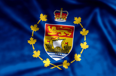 Lieutenant-Governor Of New Brunswick stylish waving and closeup flag illustration. Perfect for background or texture purposes.
