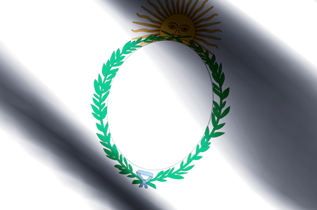 Jujuy stylish waving and closeup flag illustration. Perfect for background or texture purposes. Stock Photo