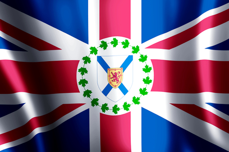 Lieutenant-Governor Of Nova Scotia stylish waving and closeup flag illustration. Perfect for background or texture purposes. Stock fotó