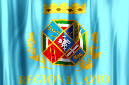 Lazio stylish waving and closeup flag illustration. Perfect for background or texture purposes.