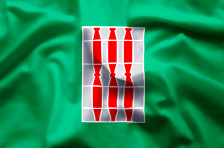 Umbria stylish waving and closeup flag illustration. Perfect for background or texture purposes. Фото со стока