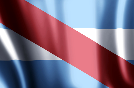 Entre Rios stylish waving and closeup flag illustration. Perfect for background or texture purposes. Imagens