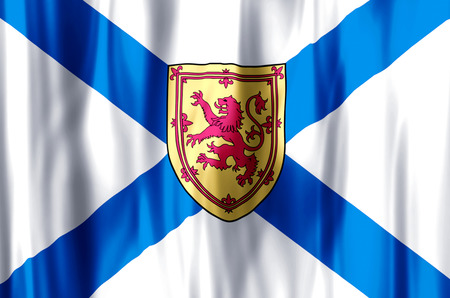 Nova Scotia stylish waving and closeup flag illustration. Perfect for background or texture purposes.