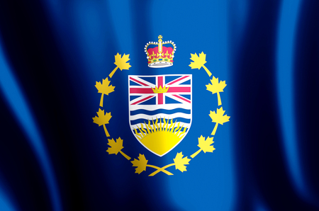 Lieutenant-Governor Of British Columbia stylish waving and closeup flag illustration. Perfect for background or texture purposes. Stock fotó