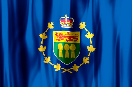 Lieutenant-Governor Of Saskatchewan stylish waving and closeup flag illustration. Perfect for background or texture purposes.