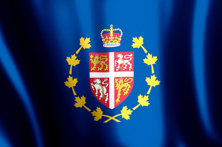 Lieutenant-Governor Of Newfoundland And Labrador stylish waving and closeup flag illustration. Perfect for background or texture purposes.