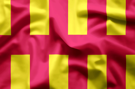 Northumberland stylish waving and closeup flag illustration. Perfect for background or texture purposes.