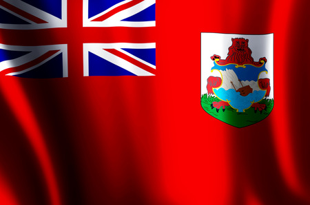 Bermuda stylish waving and closeup flag illustration. Perfect for background or texture purposes.