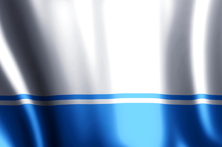 Altai Republic stylish waving and closeup flag illustration. Perfect for background or texture purposes.