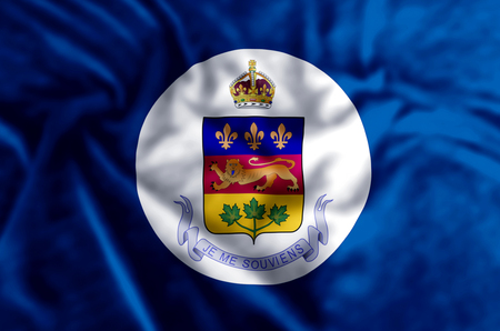 Lieutenant-Governor Of Quebec stylish waving and closeup flag illustration. Perfect for background or texture purposes.
