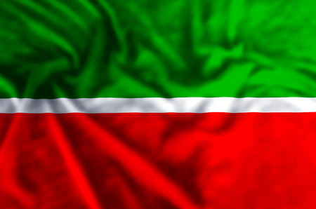 Tatarstan stylish waving and closeup flag illustration. Perfect for background or texture purposes. Imagens